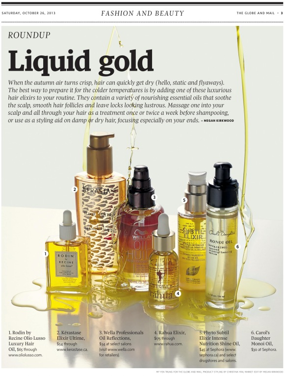 The Globe and Mail Hair Oils