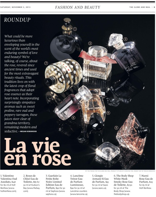 The Globe and Mail Rose Fragrances Megan Kirkwood