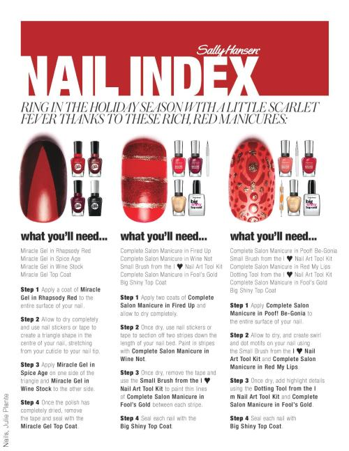 Sally Hansen Nail Index How To Holiday Vol 24